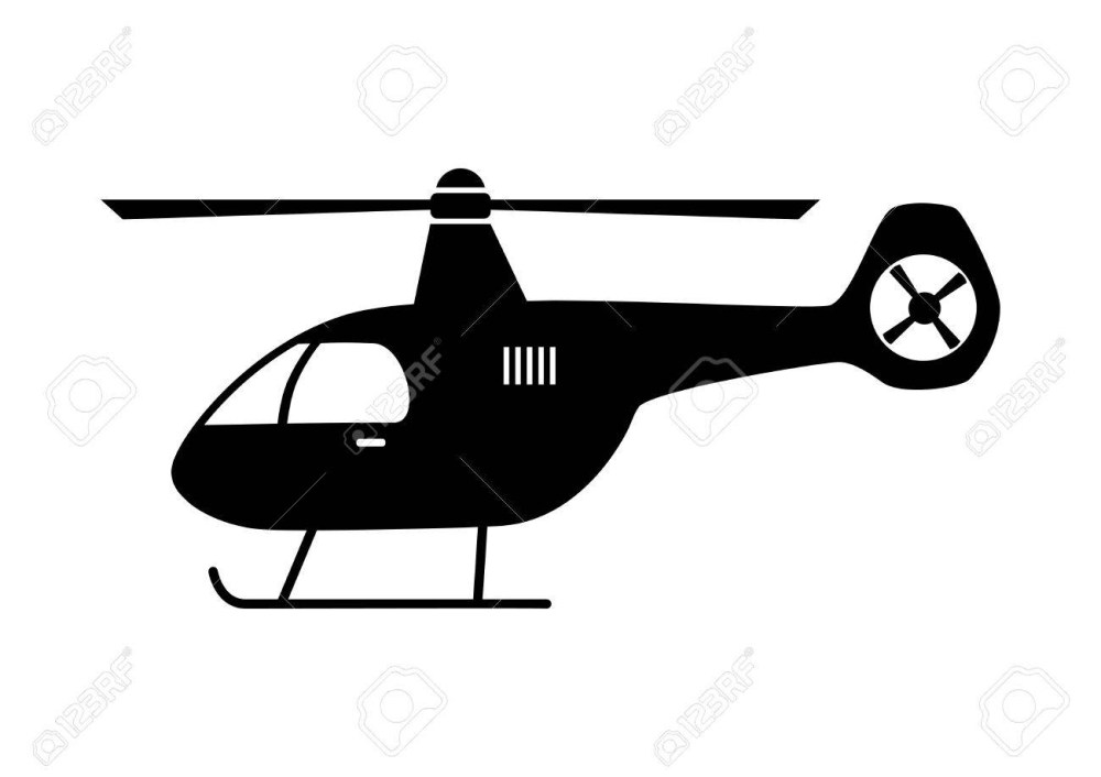 medium resolution of helicopter cliparts black