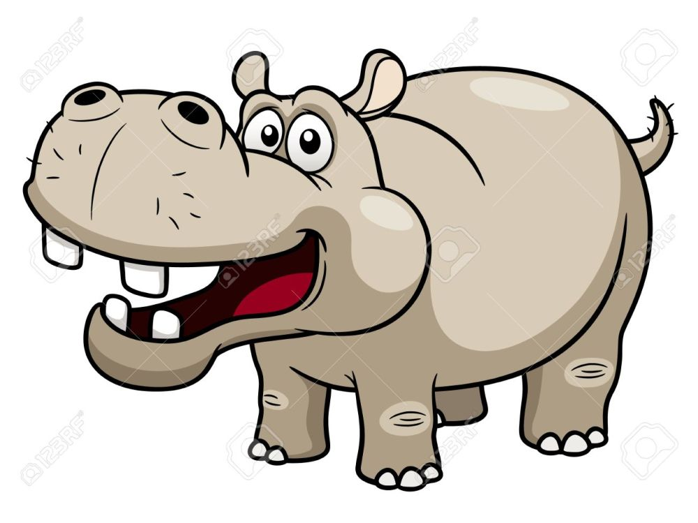 medium resolution of 1300x975 illustration of cartoon hippopotamus royalty free cliparts