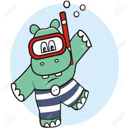 small resolution of 1300x1300 hippo in water royalty free cliparts vectors and stock