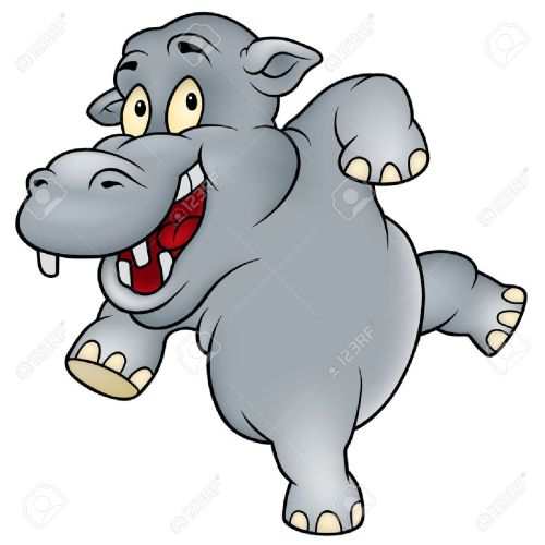 small resolution of 1298x1300 colorful clipart hippo