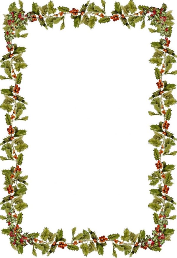 holiday borders word documents