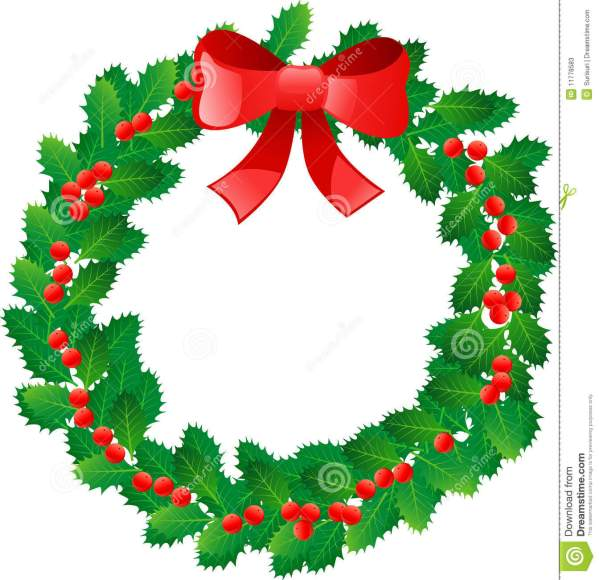 holiday wreaths clipart free