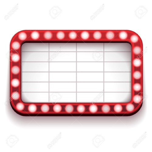 small resolution of 1300x1300 marquee lights border clipart