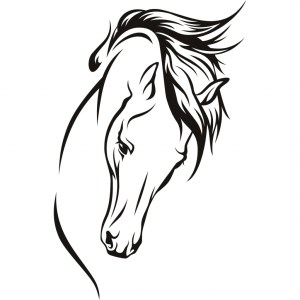 horse head drawing clipart face silhouette clip line drawings step tree simple horsehead christmas clipartmag getdrawings coloring vector clipground cliparts