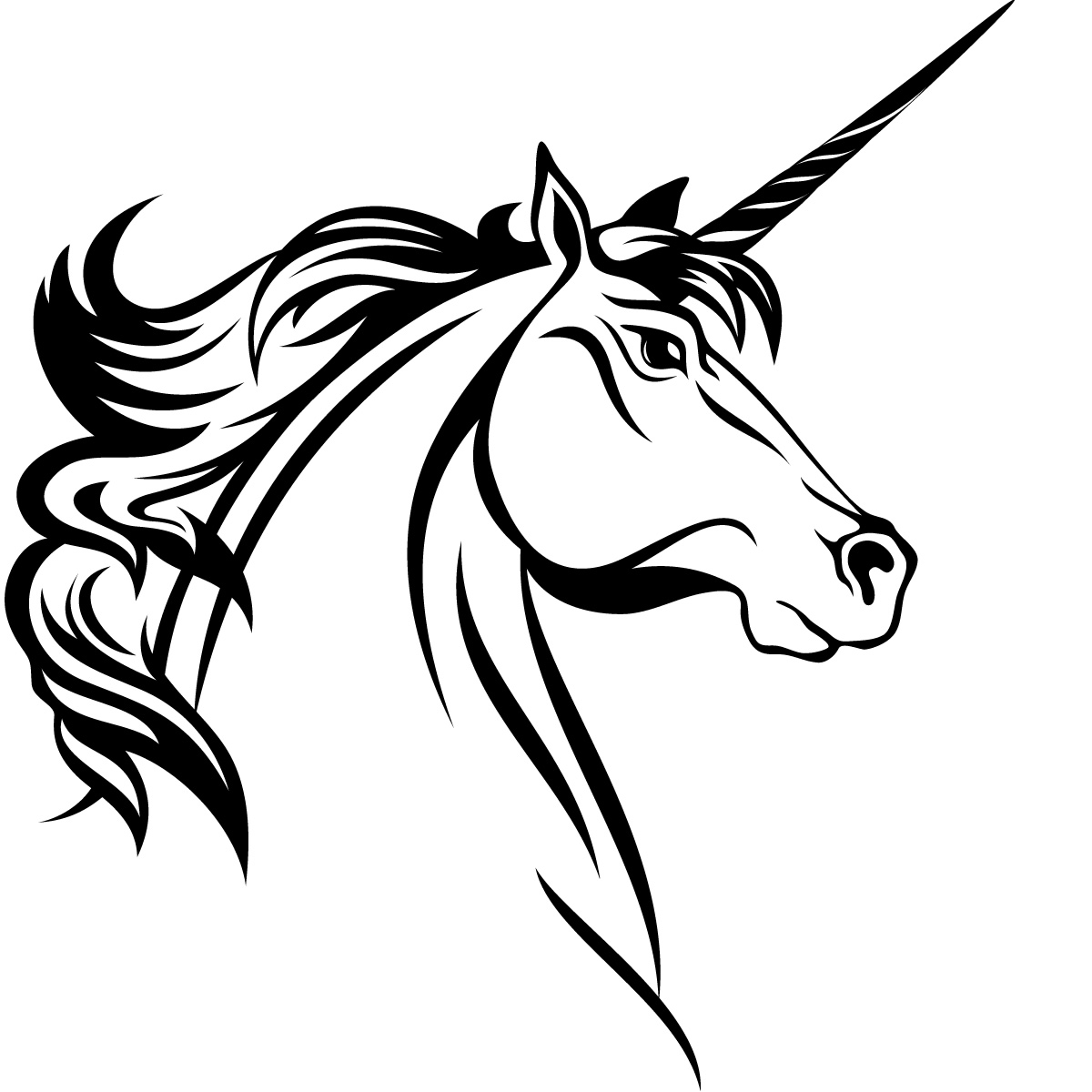 Horse Head Line Drawing