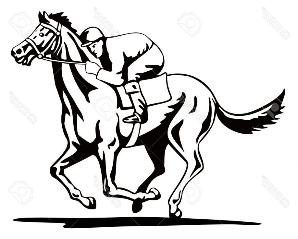 medium resolution of 1024x821 unique horse and jockey stock vector racing images