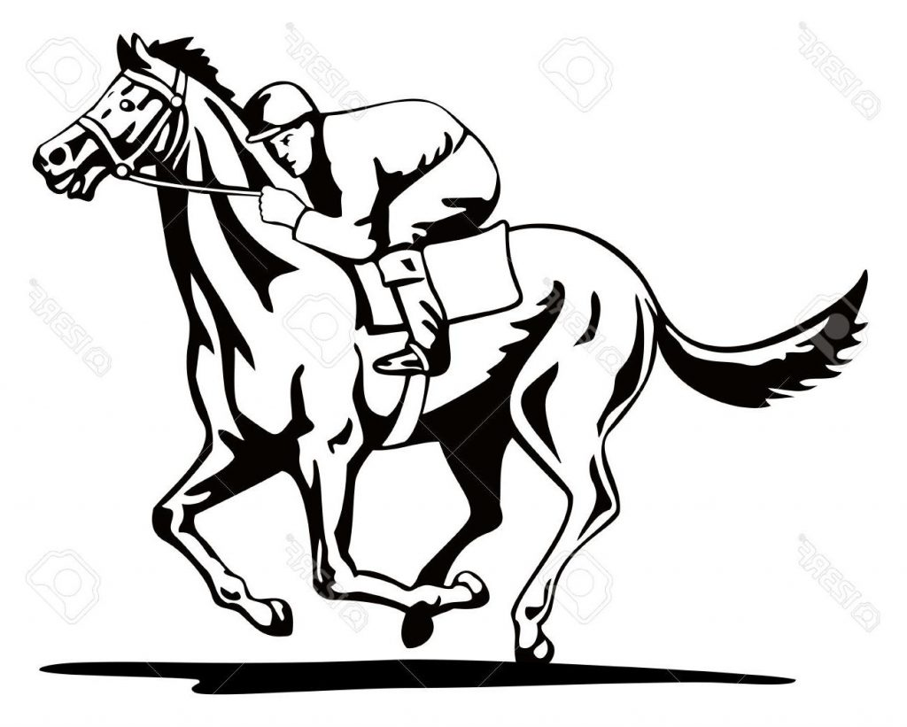 hight resolution of 1024x821 unique horse and jockey stock vector racing images