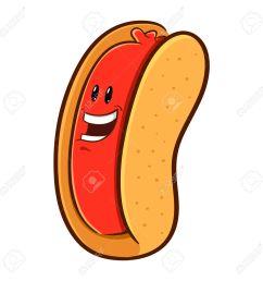 1300x1300 hot dog clipart happy [ 1300 x 1300 Pixel ]