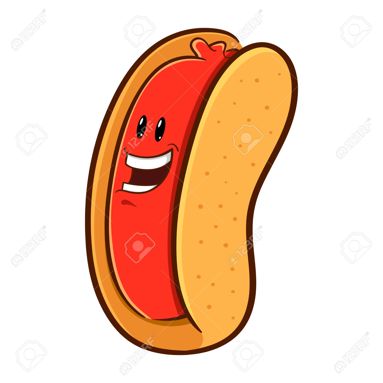 hight resolution of 1300x1300 hot dog clipart happy