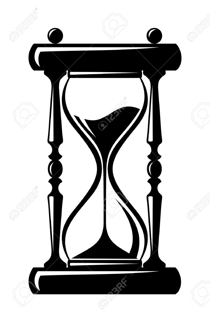 hight resolution of 866x1300 hourglass clipart black and white