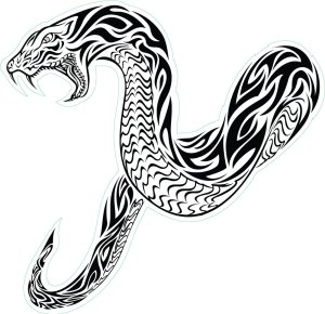 snake tribal tattoo tattoos clipart draw cobra designs rattlesnake sketch native tattoosforyou drawings clip snakes cliparts sword pixels reptile killer