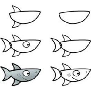 shark drawing draw simple step drawings sharks clipartmag basic hammerhead cartoon paintingvalley