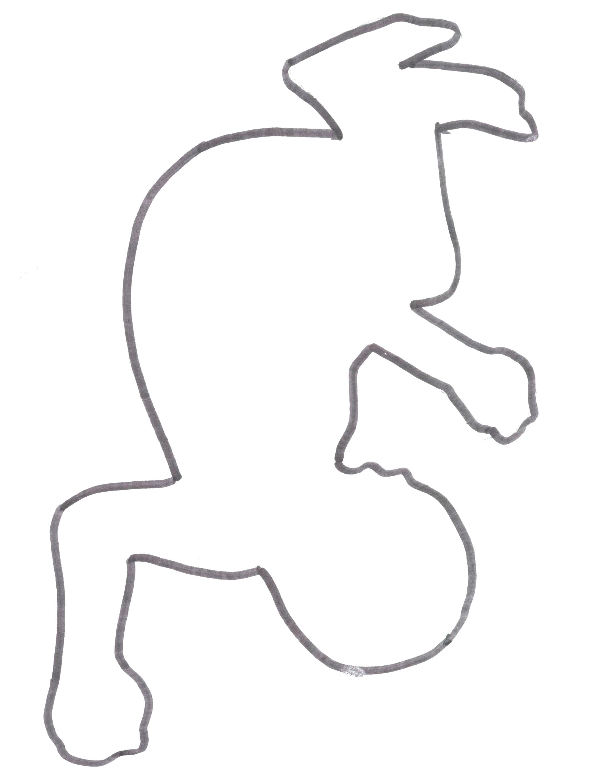 Human Outline Template