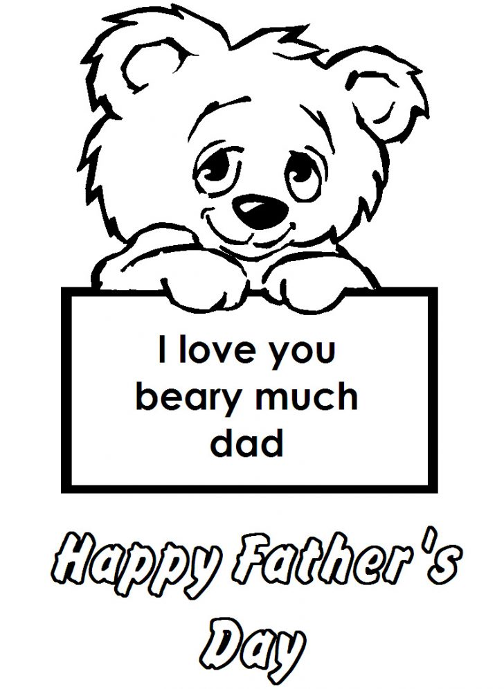 i love you dad coloring pages  free download on clipartmag