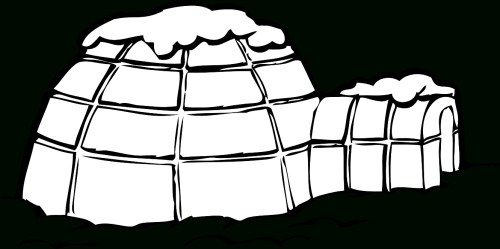 small resolution of 1331x665 igloo clipart black and white letters example