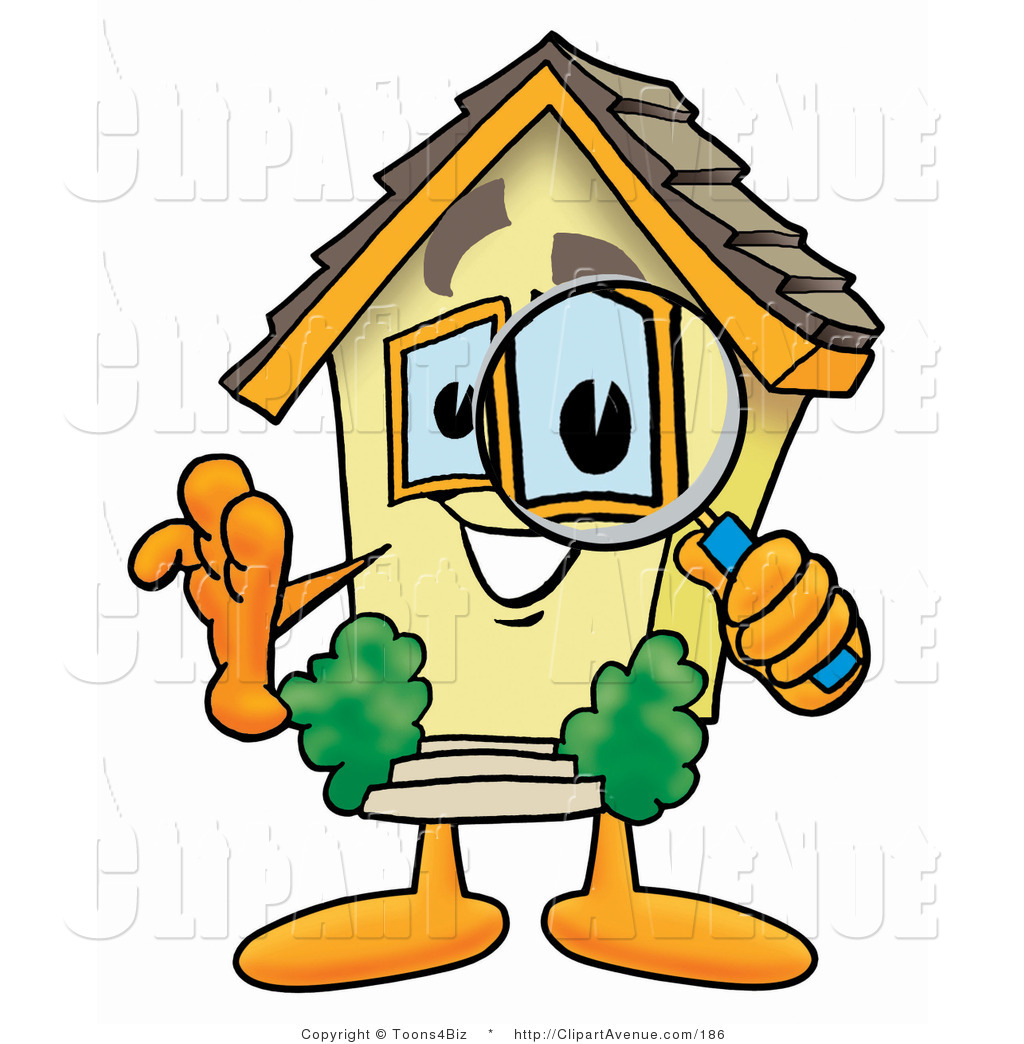 hight resolution of 1024x1044 avenue clipart of a home mascot cartoon character looking through