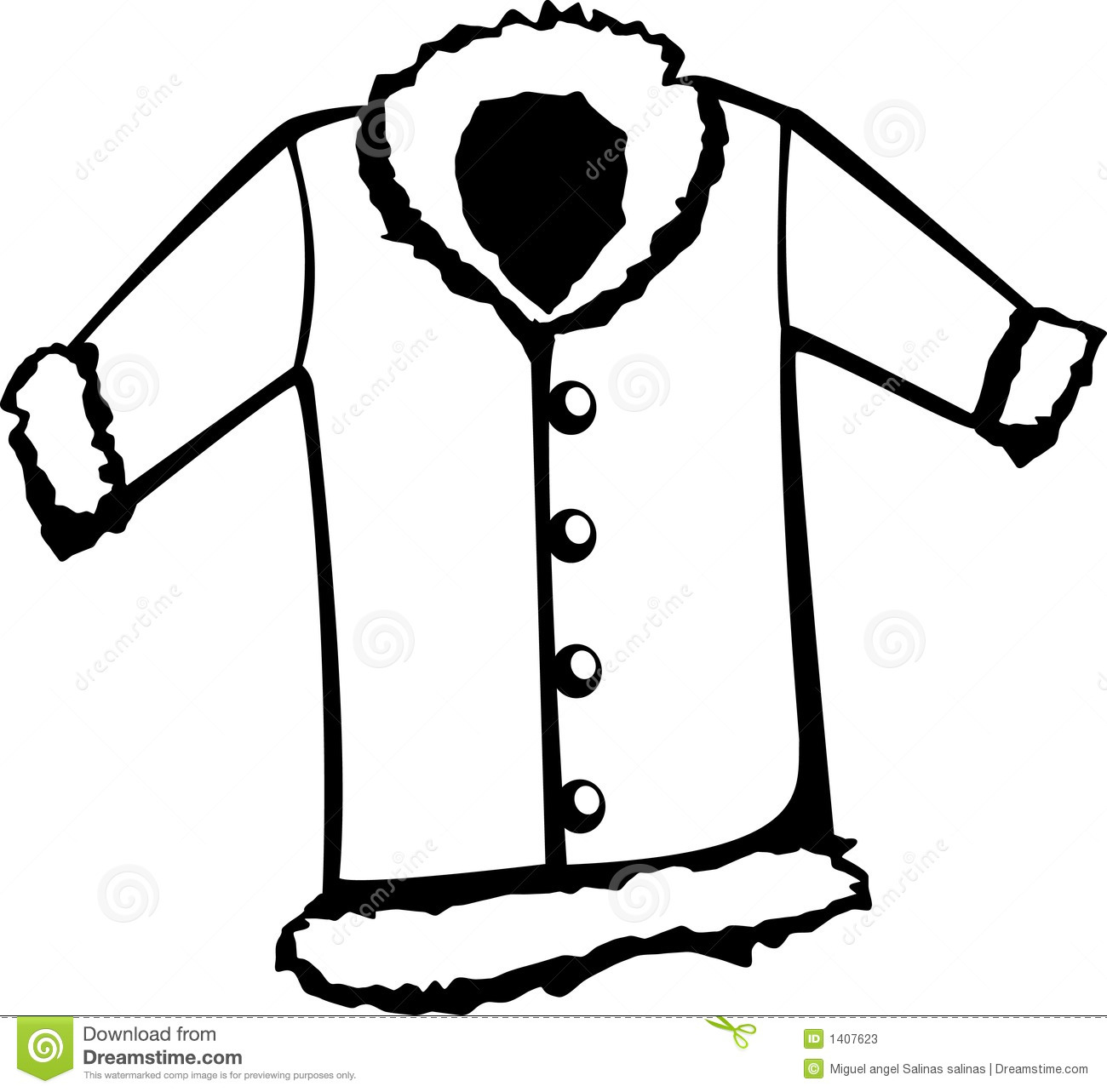 Jacket Clipart Black And White