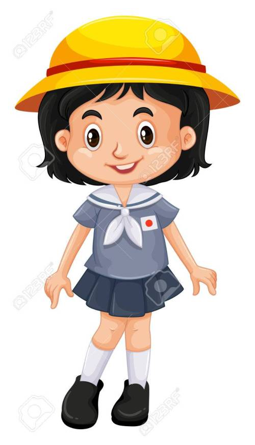 small resolution of 744x1300 japanese girl in school uniform illustration royalty free cliparts