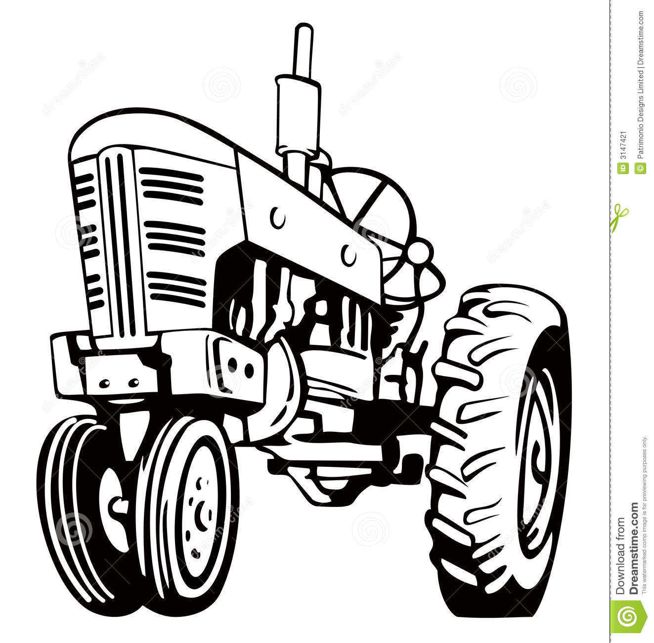 Tractor Pulling Black