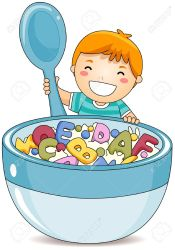 breakfast clipart boy eating alphabet soup child cereals clip eat cereal illustration kid illustrations vector clipartmag royalty clipground healthy clipping