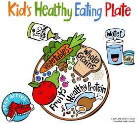 healthy eating clipart plate kid guide visual clipartmag