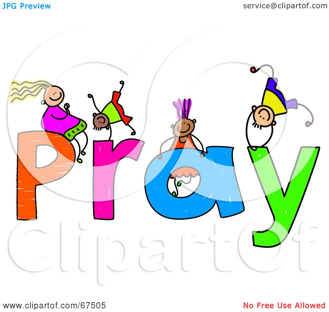kids praying clipart free