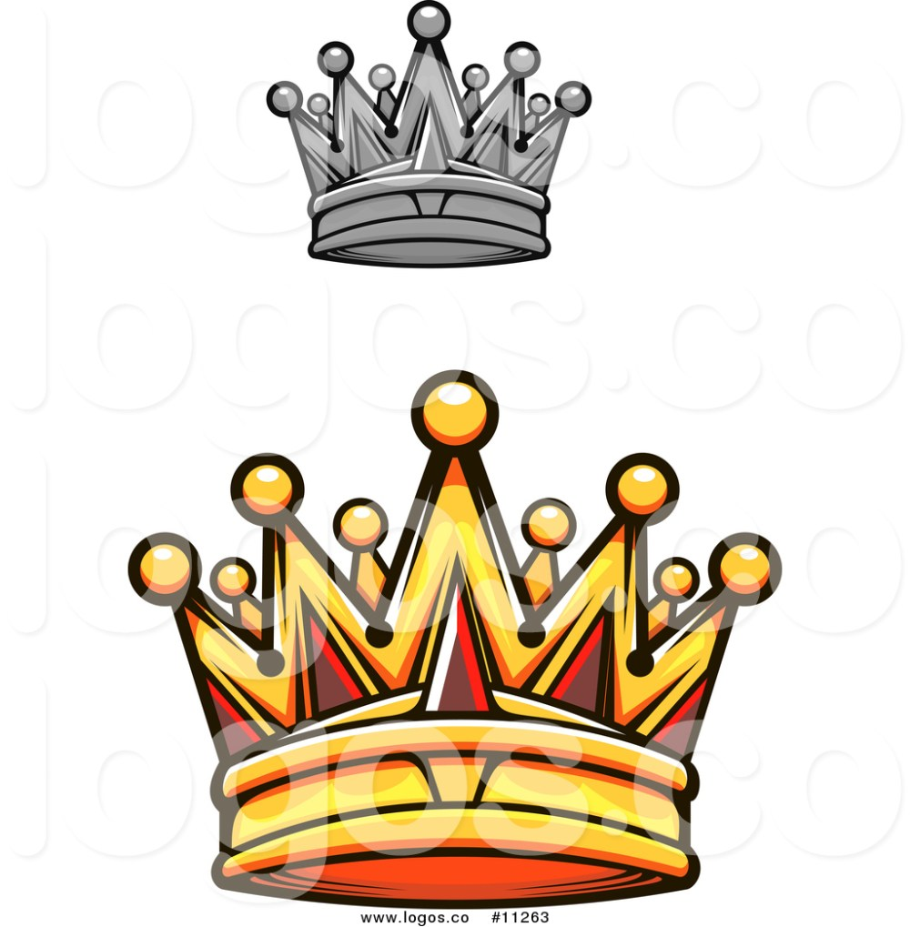 medium resolution of 1024x1044 royalty free vector logo of a gold royal crown with red gems
