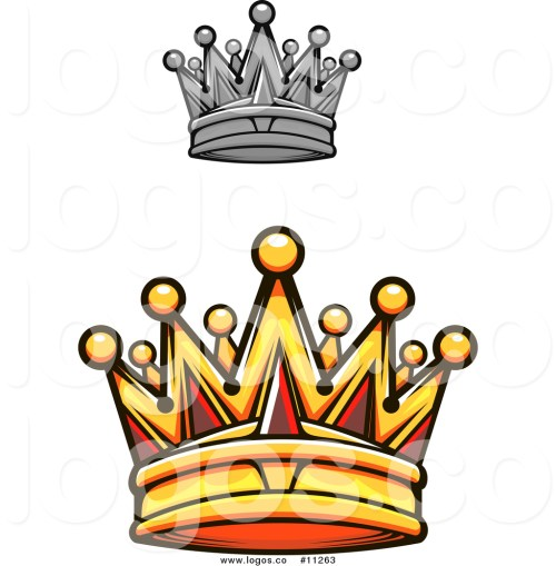small resolution of 1024x1044 royalty free vector logo of a gold royal crown with red gems