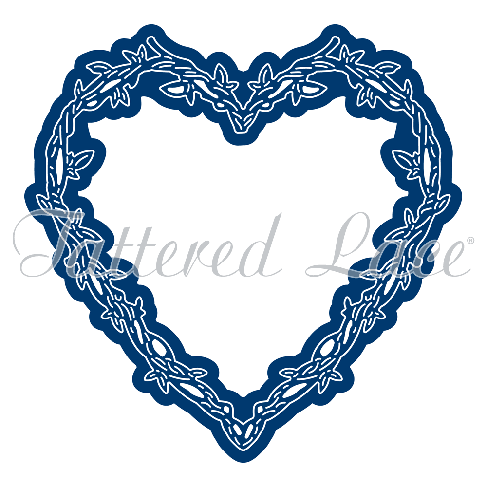 medium resolution of 1000x1000 engaging elements heart frame tld0370 tattered lace