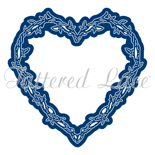 small resolution of 1000x1000 engaging elements heart frame tld0370 tattered lace
