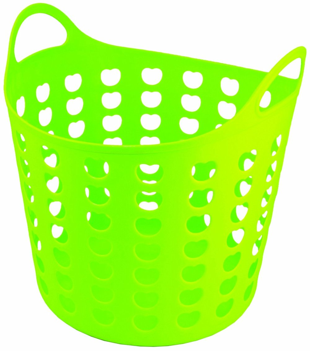 medium resolution of 1324x1500 elliott s funky cleaning plastic laundry basket green amazon co