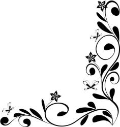 border corner simple clipart leaf borders flower designs pencil flowers drawing clip drawings hd sketches sketch clipartmag internetin paintingvalley cliparts