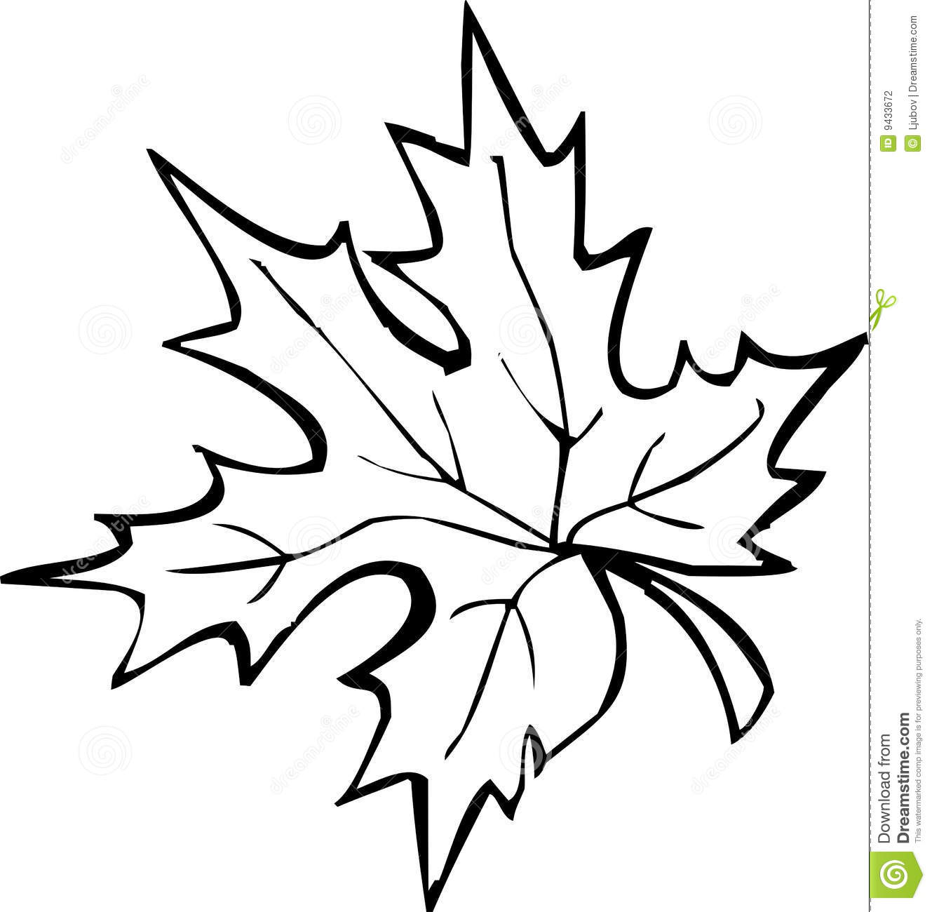 Leaf Clipart Black And White Free