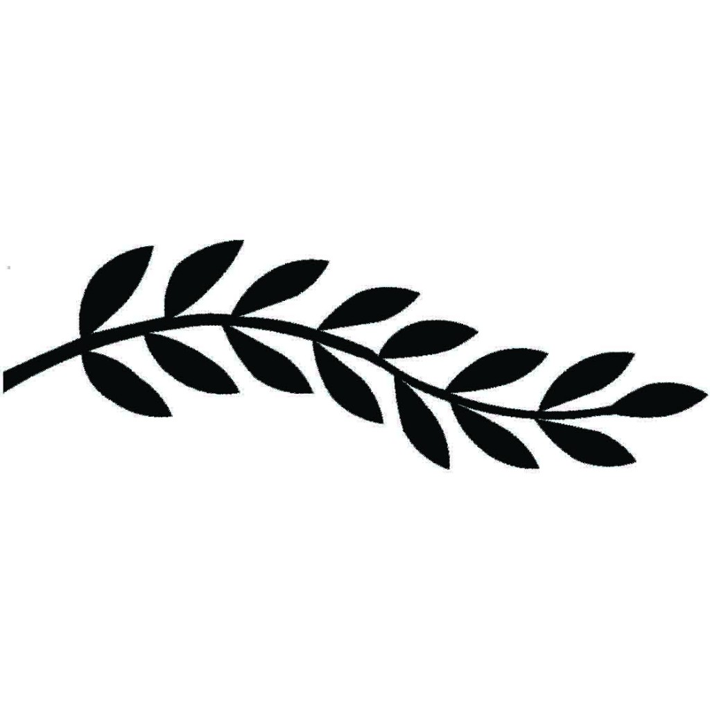 Black And White Ferns Crest