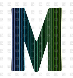 1200x1200 striped letter m royalty free vector clip art image [ 1200 x 1200 Pixel ]