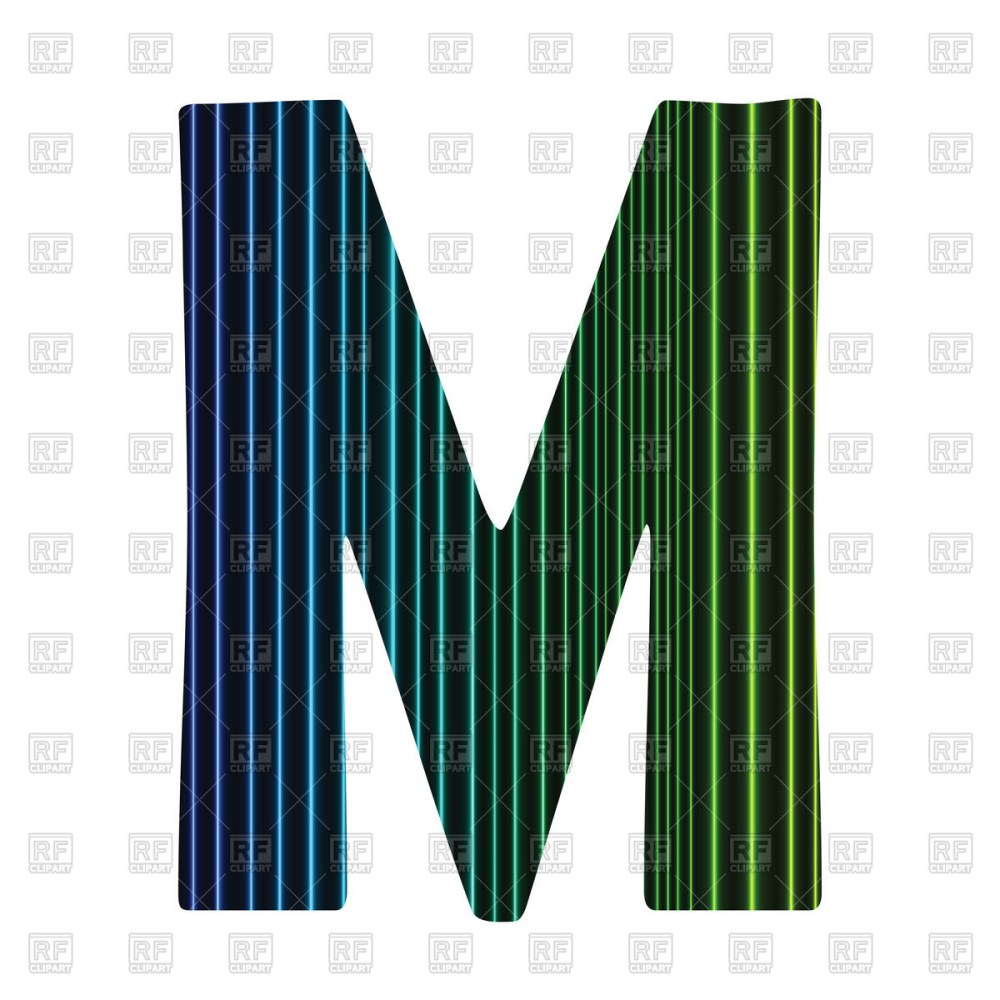 medium resolution of 1200x1200 striped letter m royalty free vector clip art image