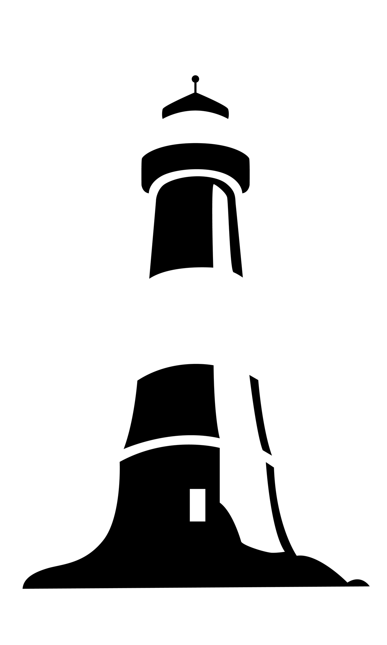 Lighthouse Clipart Black And White