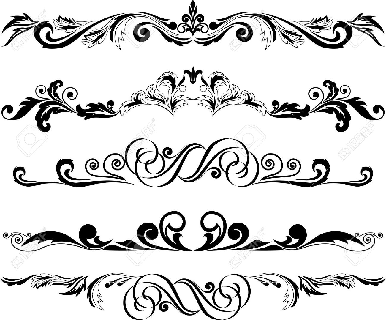 Collection Of Ornamental Clipart