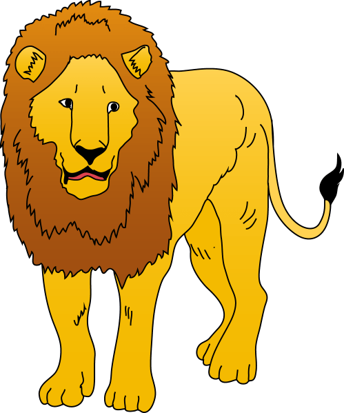 small resolution of 4464x5359 free clipart lion
