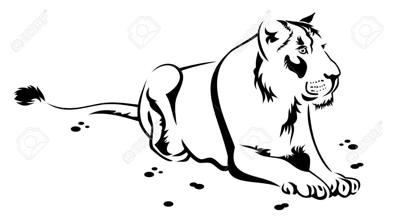 hight resolution of 1300x736 lioness clipart black and white