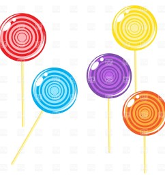 1200x1200 glossy round lollipop candies royalty free vector clip art image [ 1200 x 1200 Pixel ]