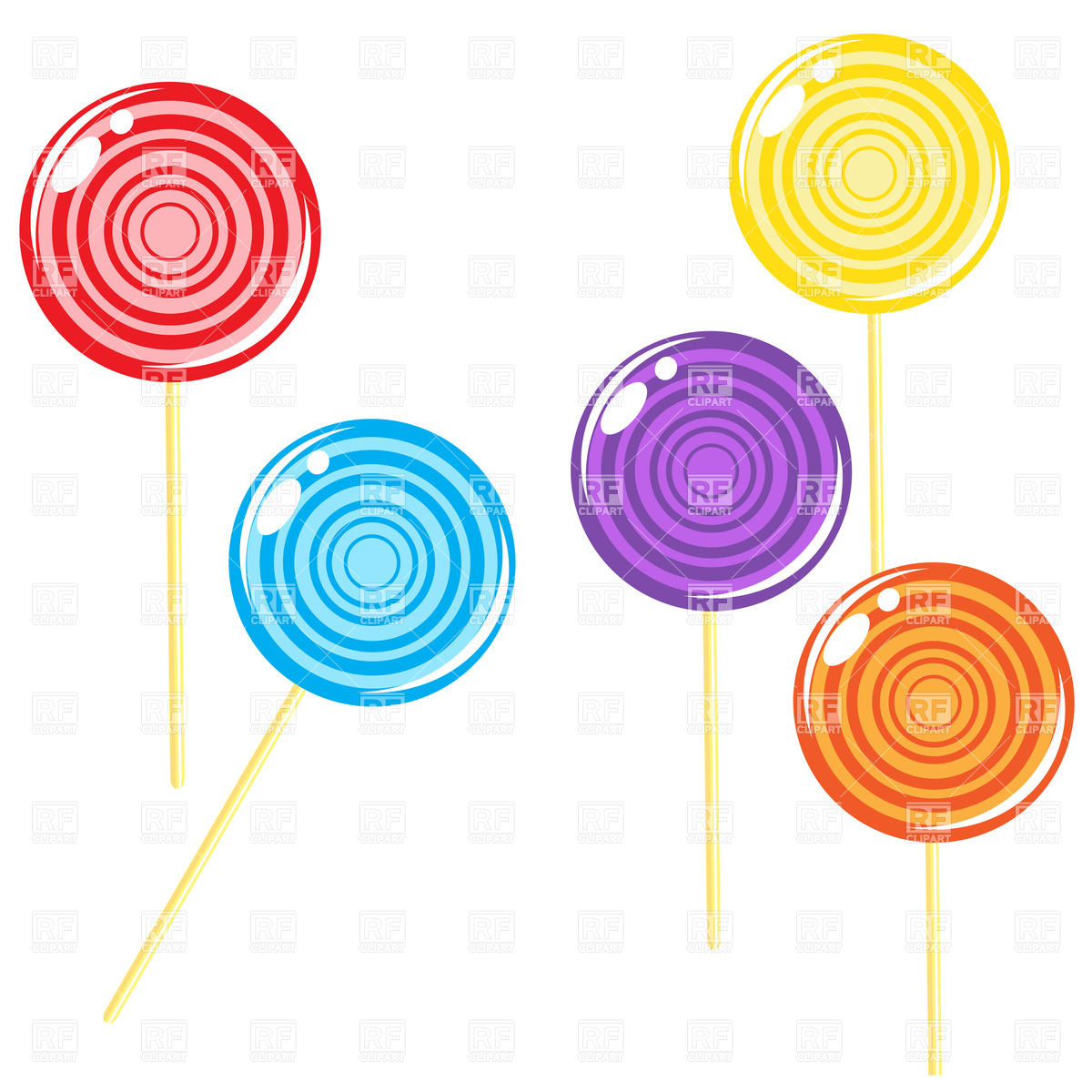 hight resolution of 1200x1200 glossy round lollipop candies royalty free vector clip art image
