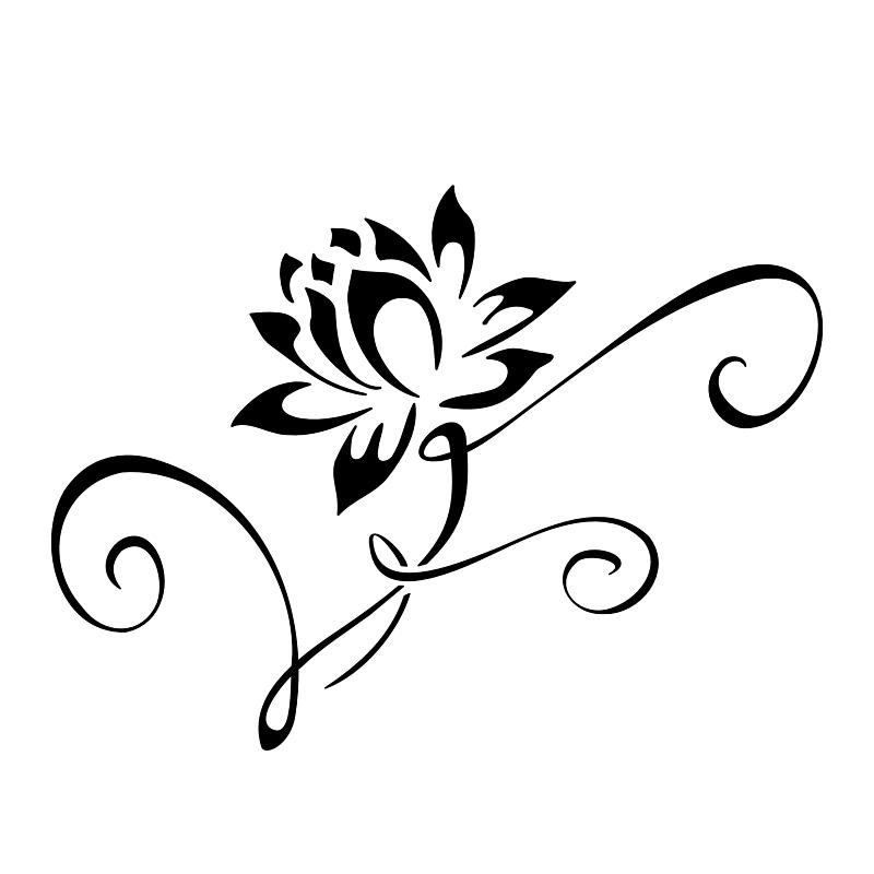Simple Lotus Blossom Lotus Flower Tattoo