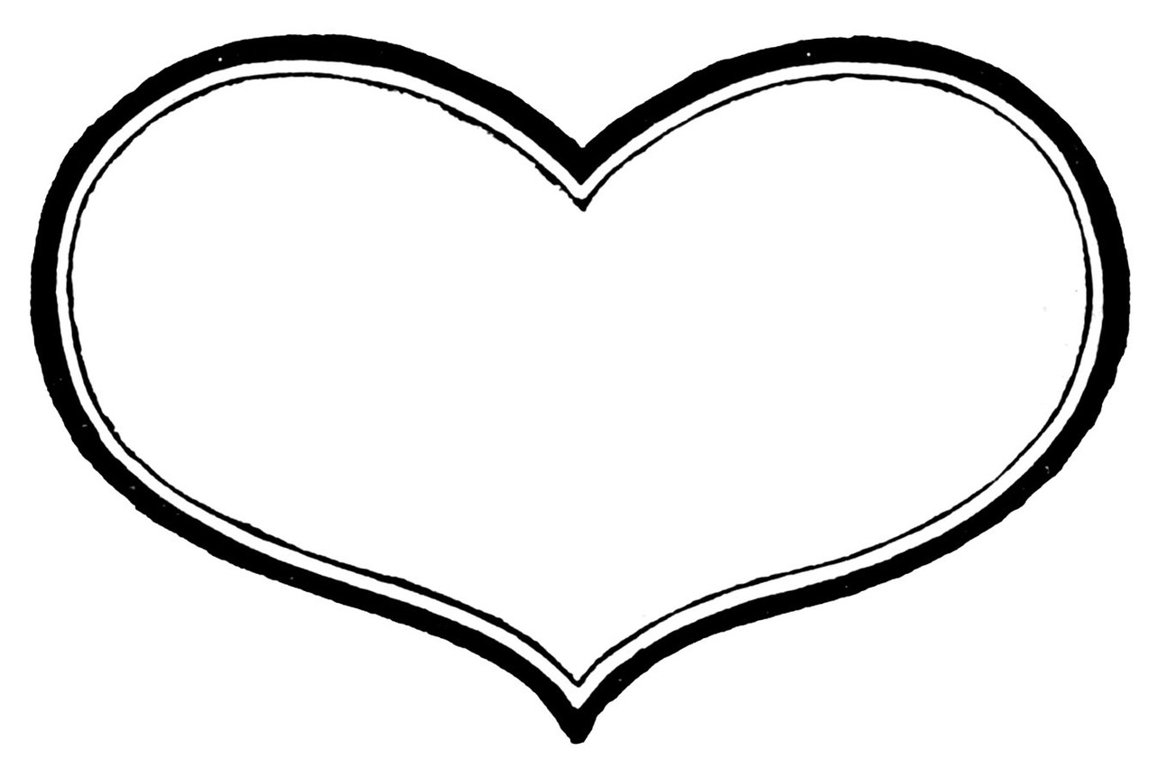 hight resolution of 1283x862 heart shaped clipart heart outline
