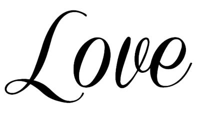 Download Love In Cursive   Free download on ClipArtMag
