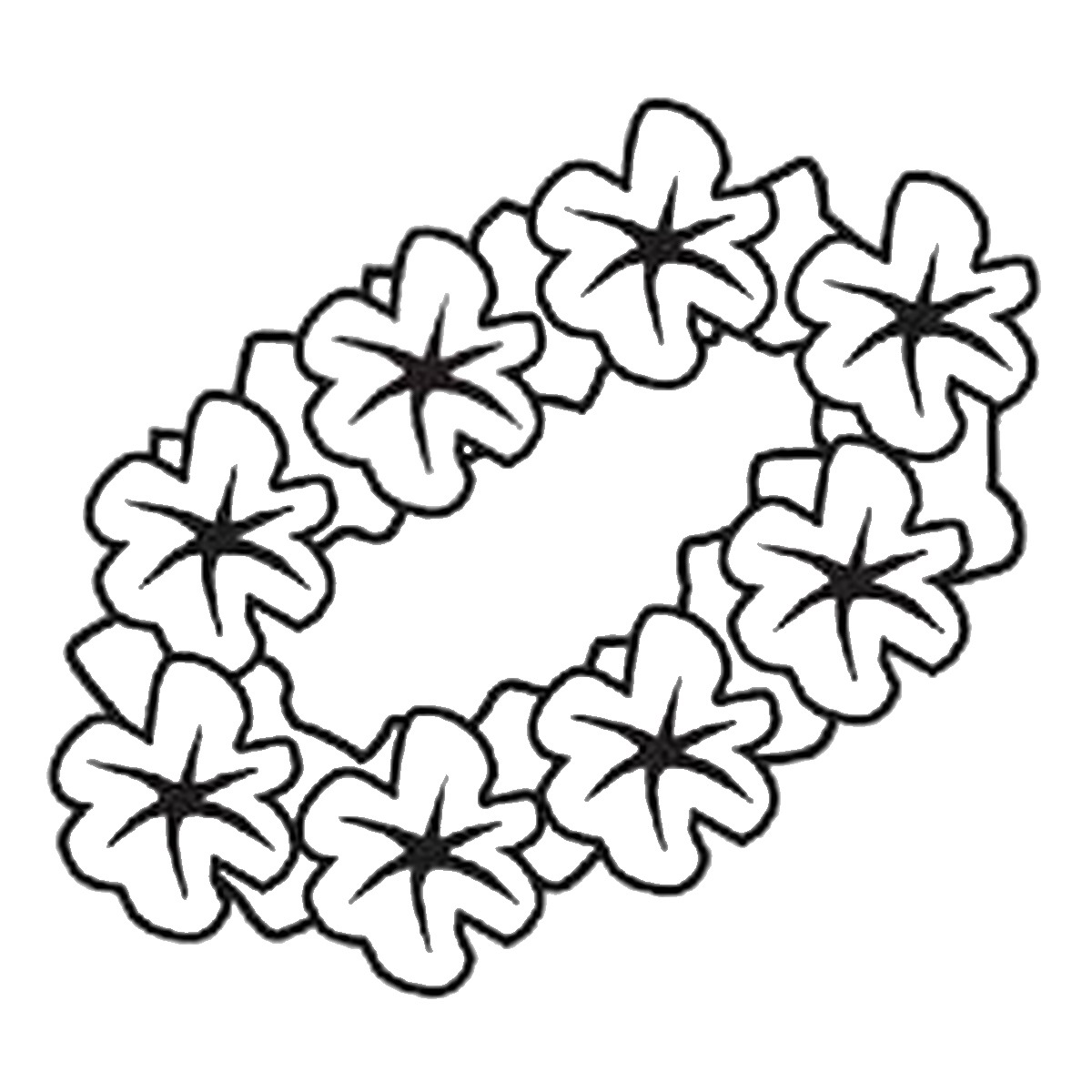 Luau Clipart Black And White