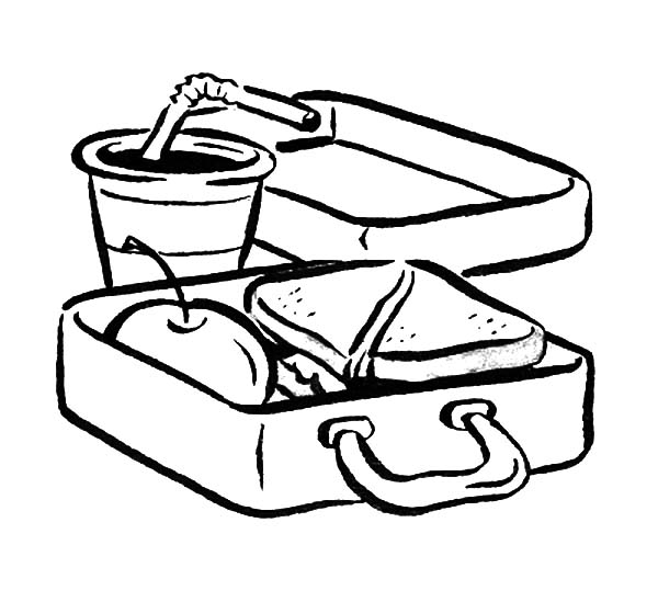 Lunch Book Coloring Pages