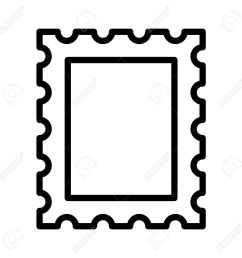 1300x1300 postage stamp or letter stamp line art icon royalty free cliparts [ 1300 x 1300 Pixel ]