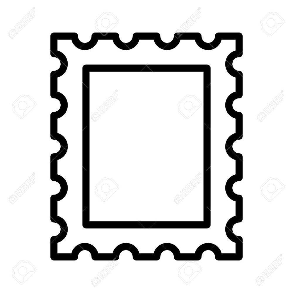 medium resolution of 1300x1300 postage stamp or letter stamp line art icon royalty free cliparts