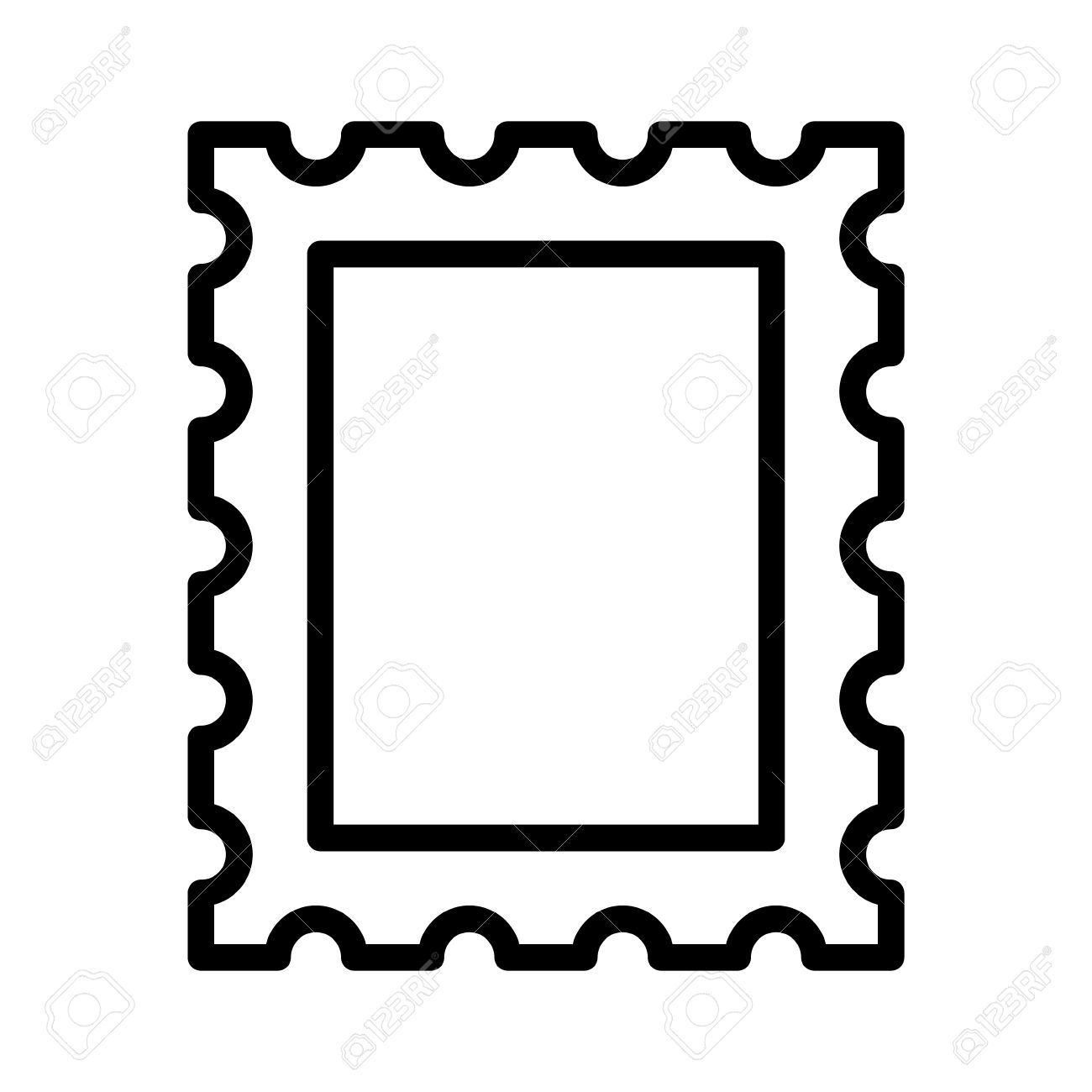 hight resolution of 1300x1300 postage stamp or letter stamp line art icon royalty free cliparts